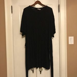 ASOS long black tunic with ties